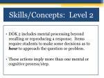 skills concepts level 2