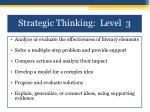 strategic thinking level 31