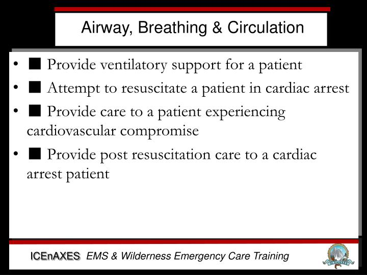Airway, Breathing & Circulation