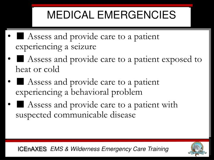 Medical emergencies1