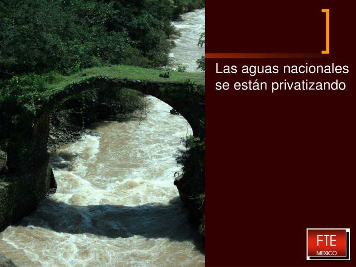 Las aguas nacionales