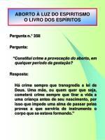 aborto luz do espiritismo o livro dos esp ritos1