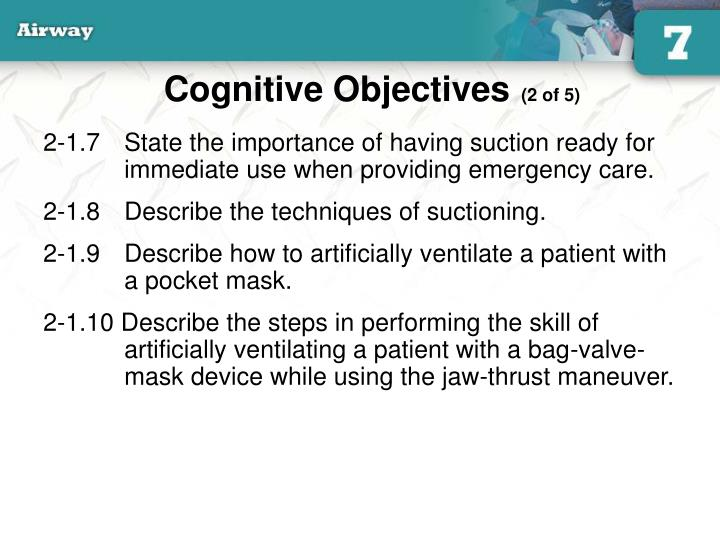Cognitive objectives 2 of 5