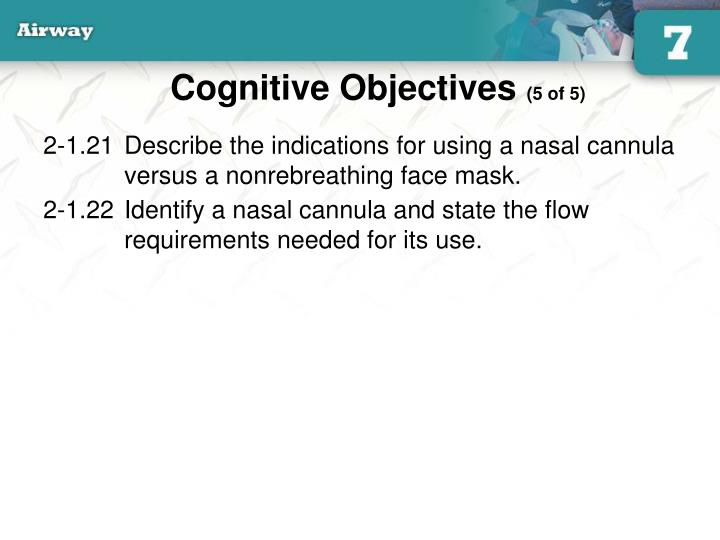 Cognitive Objectives