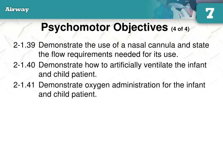 Psychomotor Objectives