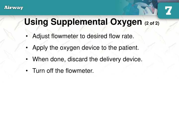 Using Supplemental Oxygen