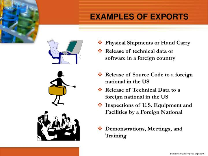 EXAMPLES OF EXPORTS