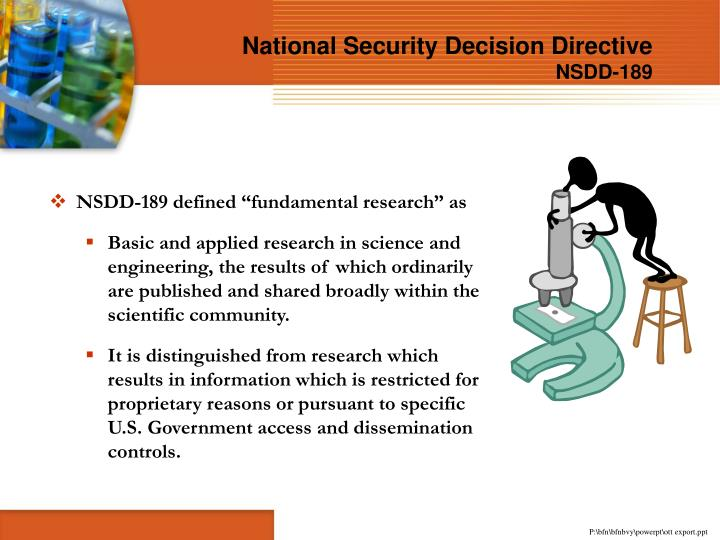 National Security Decision Directive