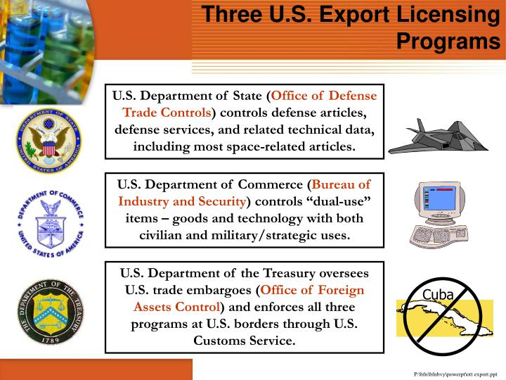 Three U.S. Export Licensing Programs