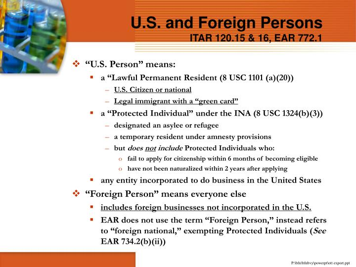 U.S. and Foreign Persons