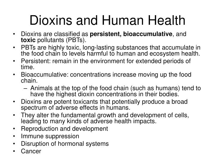 Dioxins and Human Health