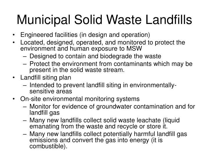 Municipal Solid Waste Landfills