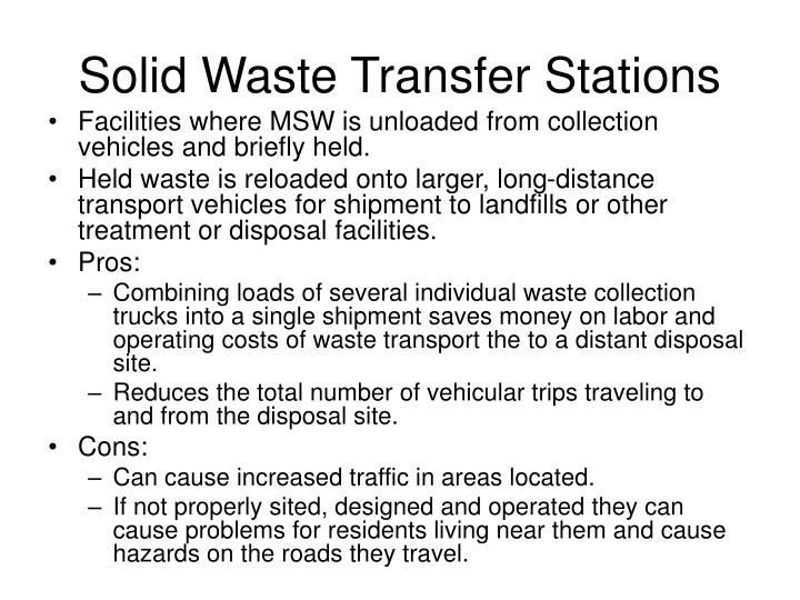 Solid Waste Transfer Stations