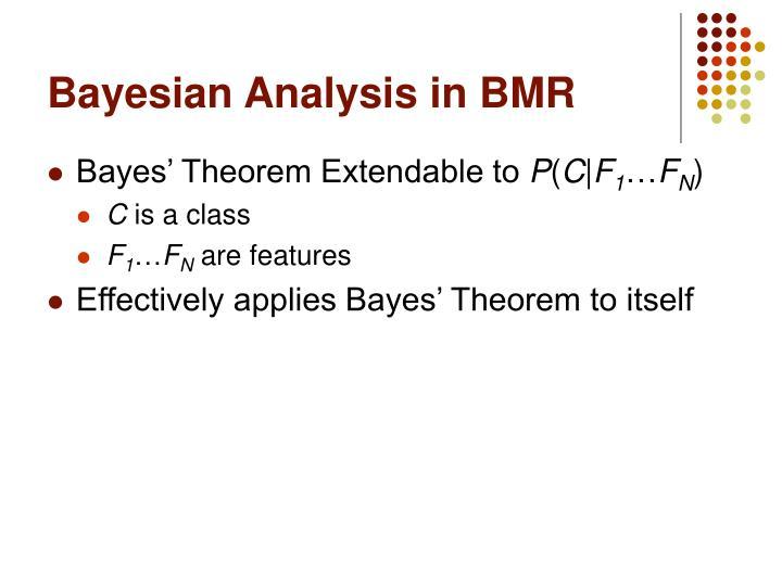 Bayesian Analysis in BMR