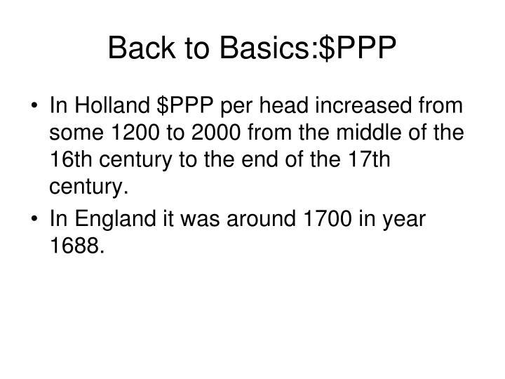 Back to Basics:$PPP