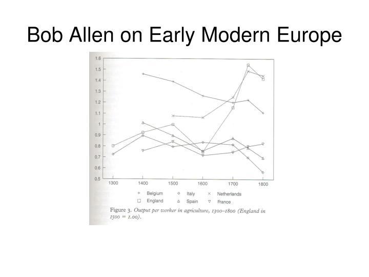 Bob Allen on Early Modern Europe