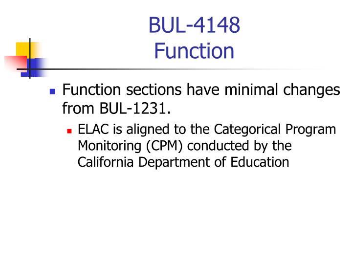Bul 4148 function