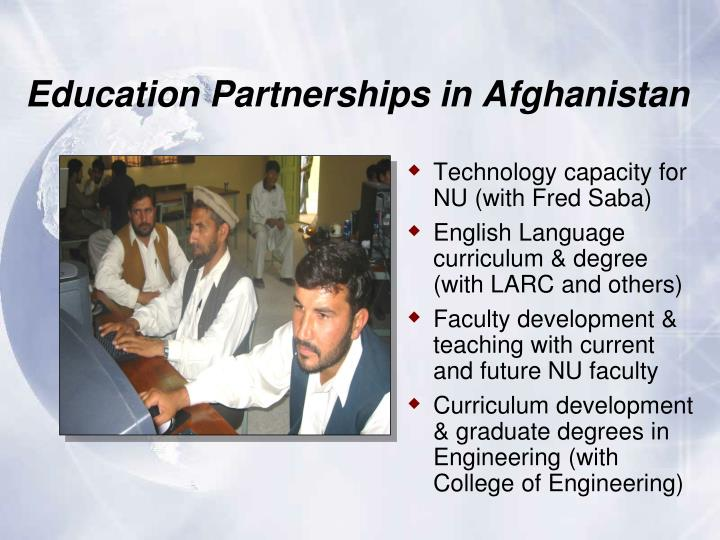 Education Partnerships in Afghanistan