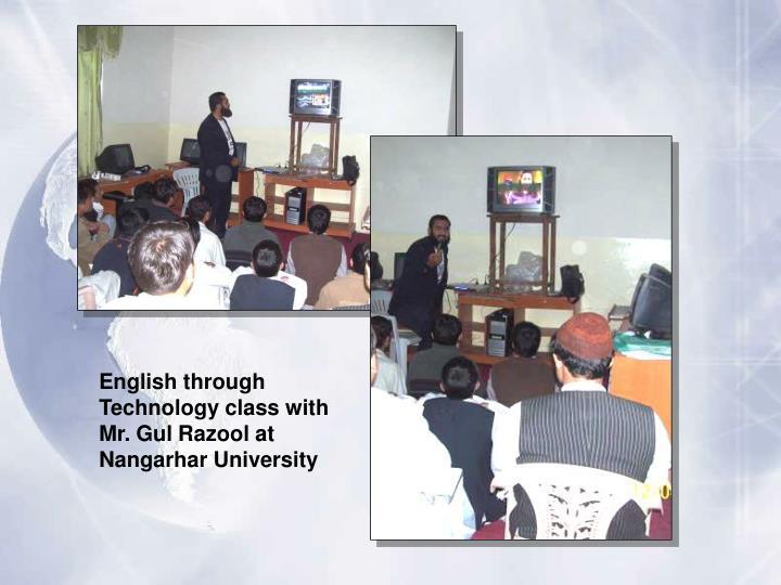 English through Technology class with Mr. Gul Razool at Nangarhar University