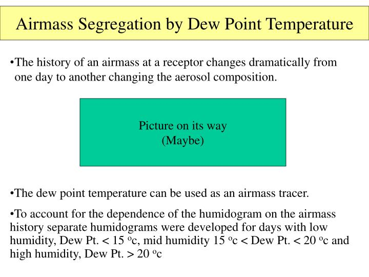 Airmass Segregation by Dew Point Temperature