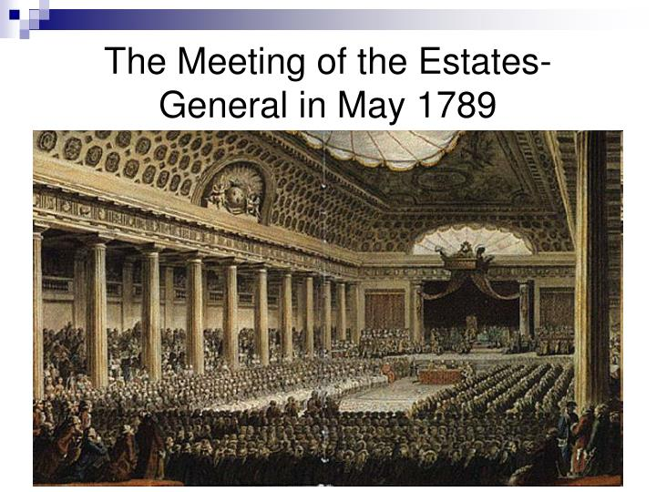 The Meeting of the Estates-General in May 1789