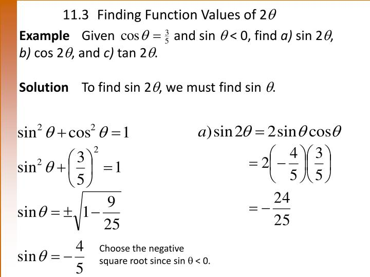11 3 finding function values of 2