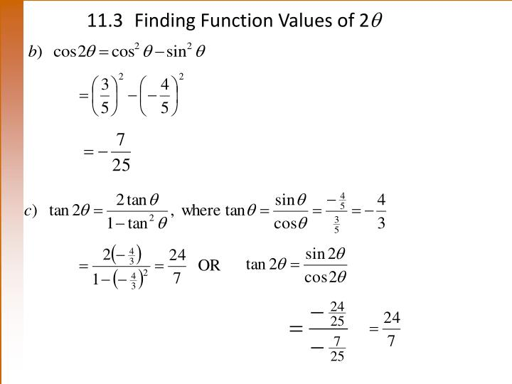 11.3Finding Function Values of 2