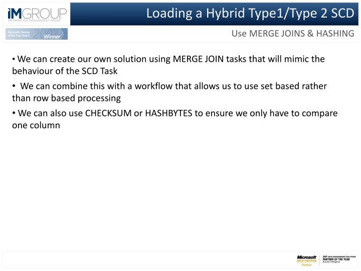 Loading a Hybrid Type1/Type 2 SCD