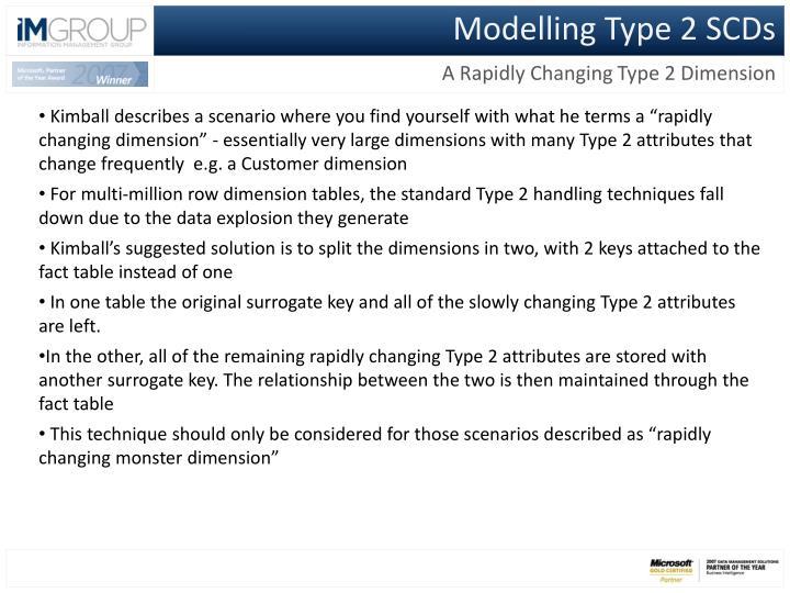 Modelling Type 2 SCDs