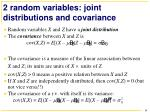 2 random variables joint distributions and covariance