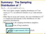 summary the sampling distribution of