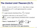 the central limit theorem clt
