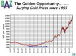 the golden opportunity surging gold prices since 1995