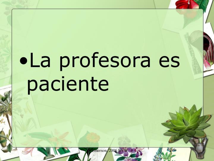 La profesora es paciente
