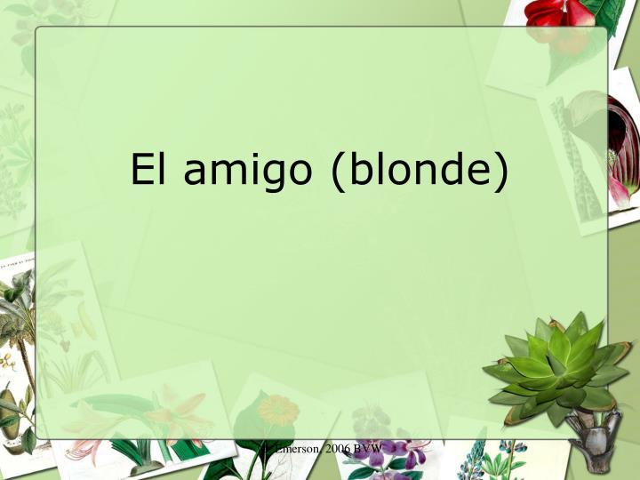 El amigo (blonde)