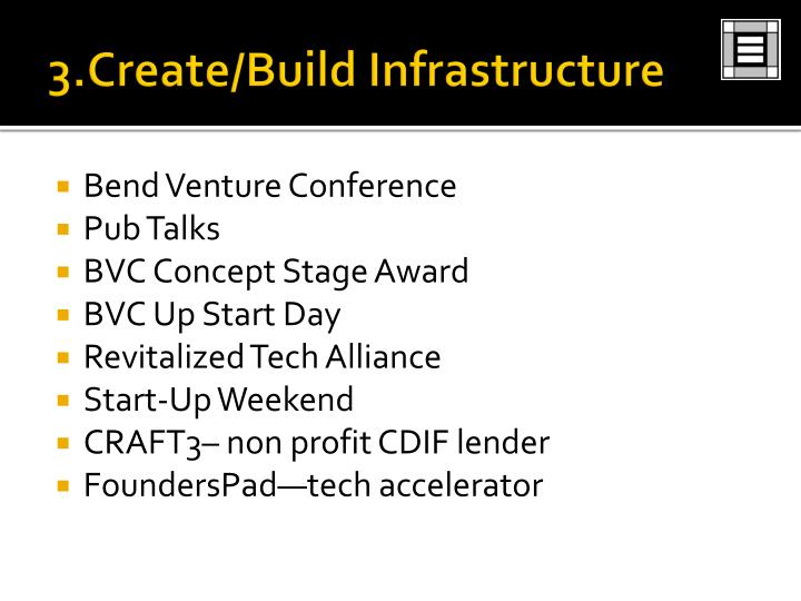 3.Create/Build Infrastructure