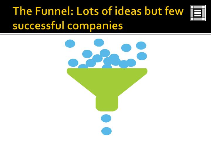 The Funnel: Lots of ideas but few