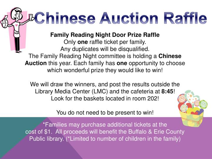Chinese Auction Raffle