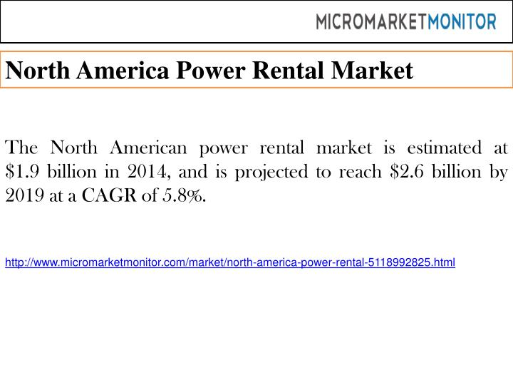 North America Power Rental Market