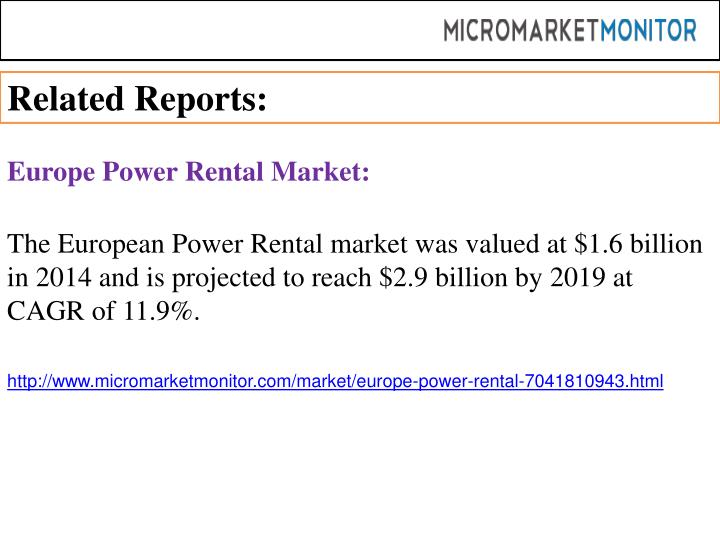 Related Reports: