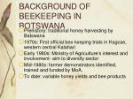 background of beekeeping in botswana