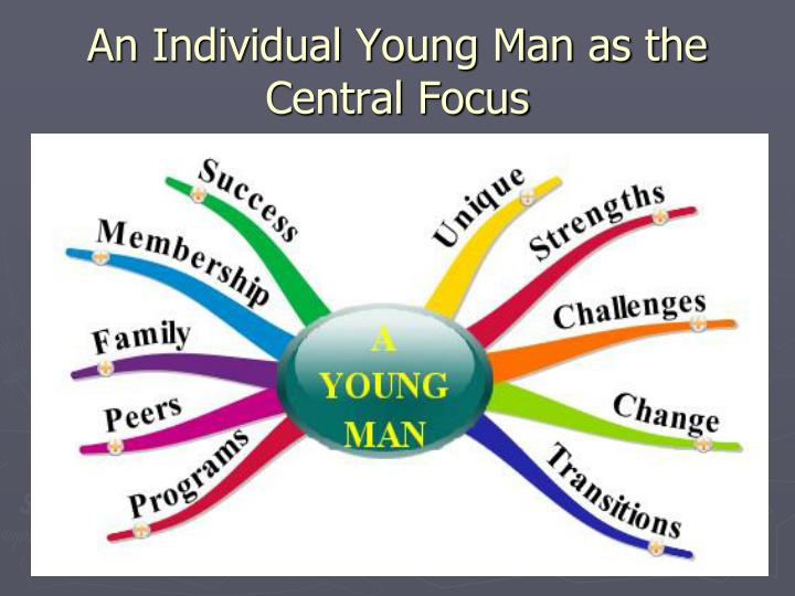 An Individual Young Man as the