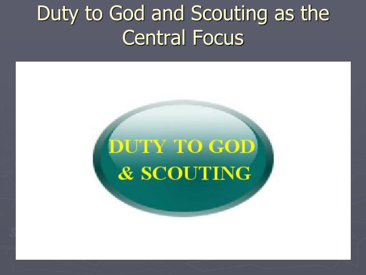 Duty to God and Scouting as the