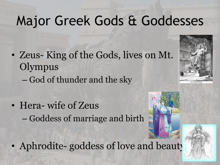 Major Greek Gods & Goddesses