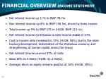 financial overview income statement