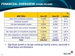 financial overview other income