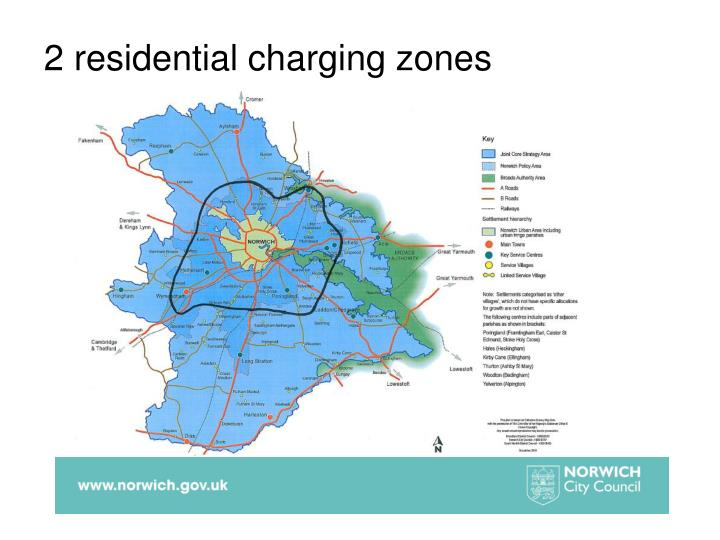 2 residential charging zones