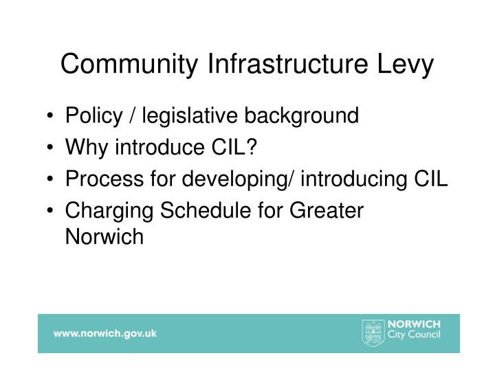 Community infrastructure levy