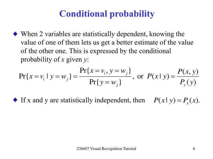 Conditional probability