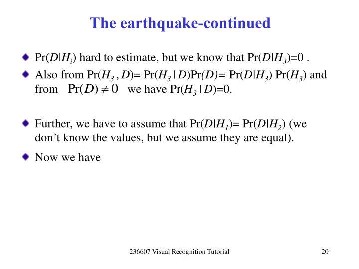 The earthquake-continued